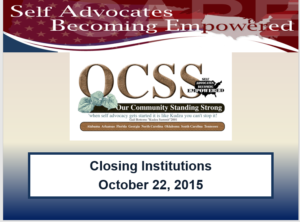 Cover of closing institutions