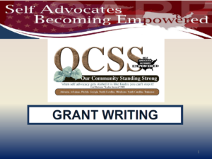 Cover of Grant Writing presentation