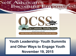 Cover of Youth Leadership Powerpoint.